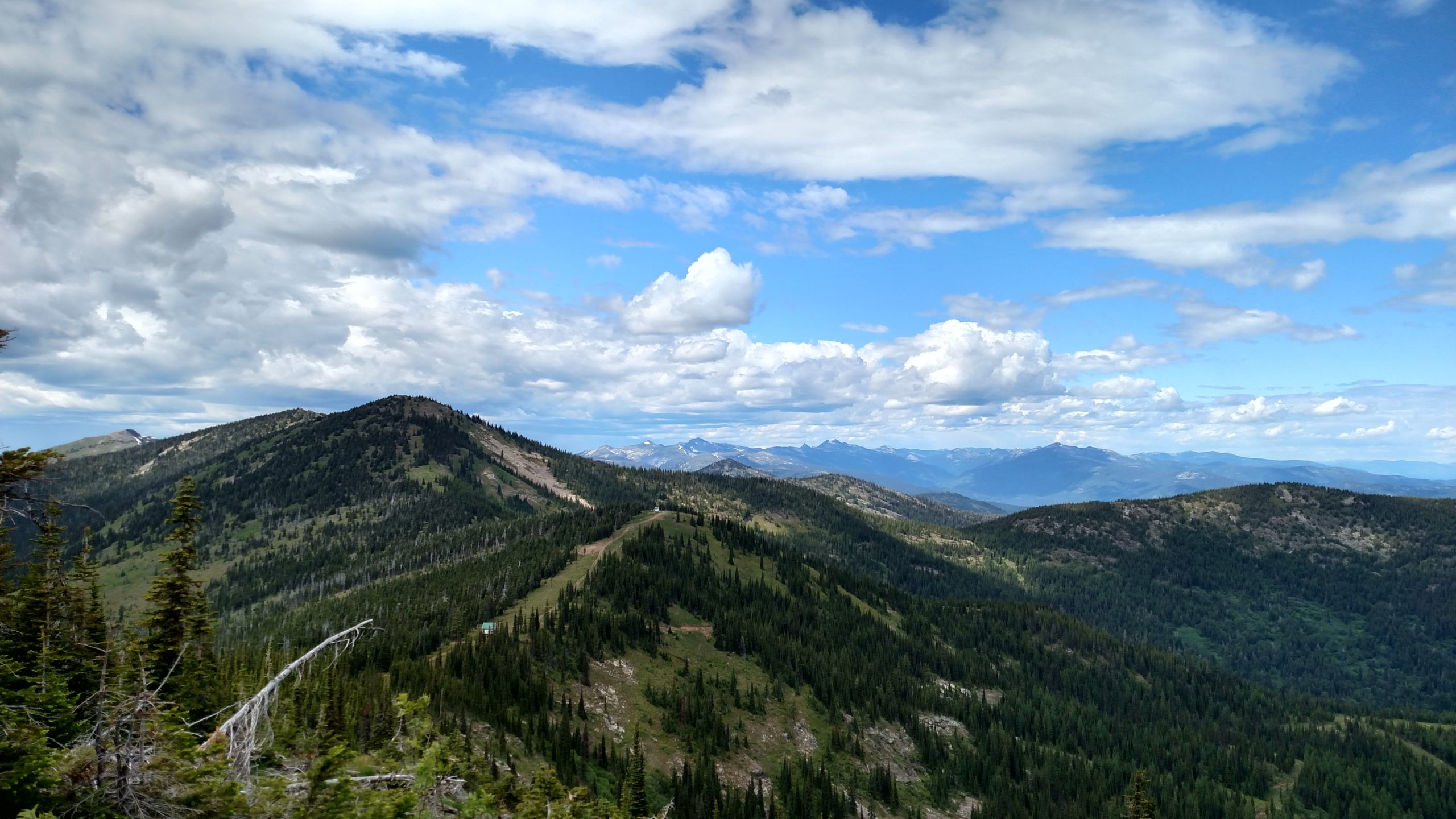 view from Schweitzer Mountain in Idaho
