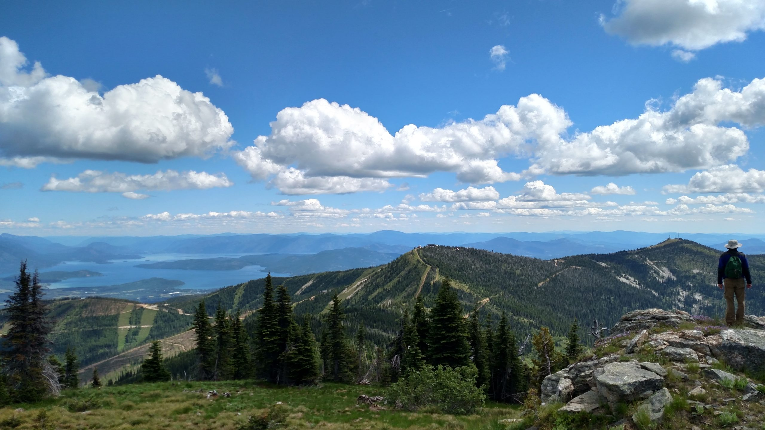 view of Schweitzer Mountain from Big Blue peak