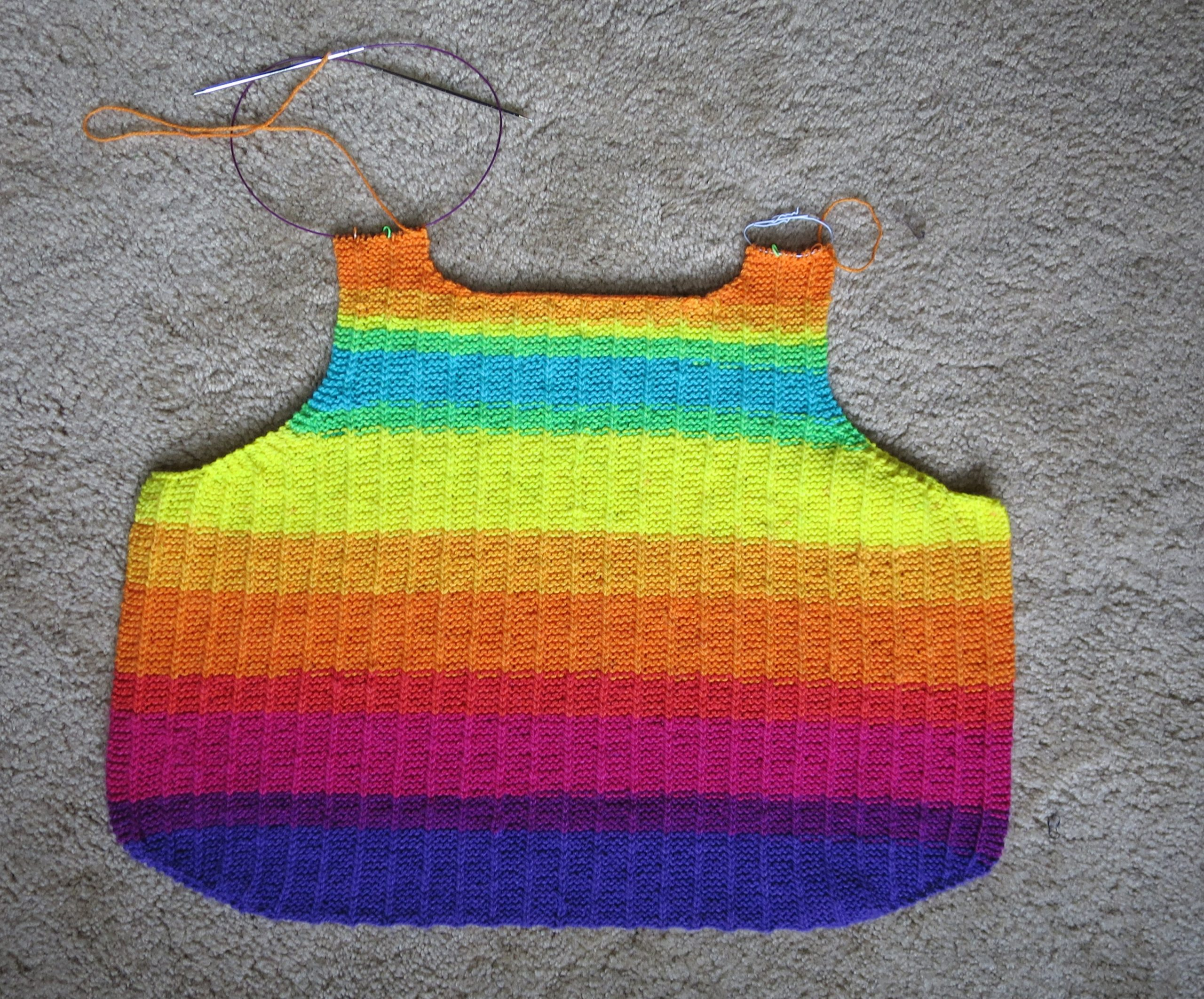 back panel of a knitted tank top