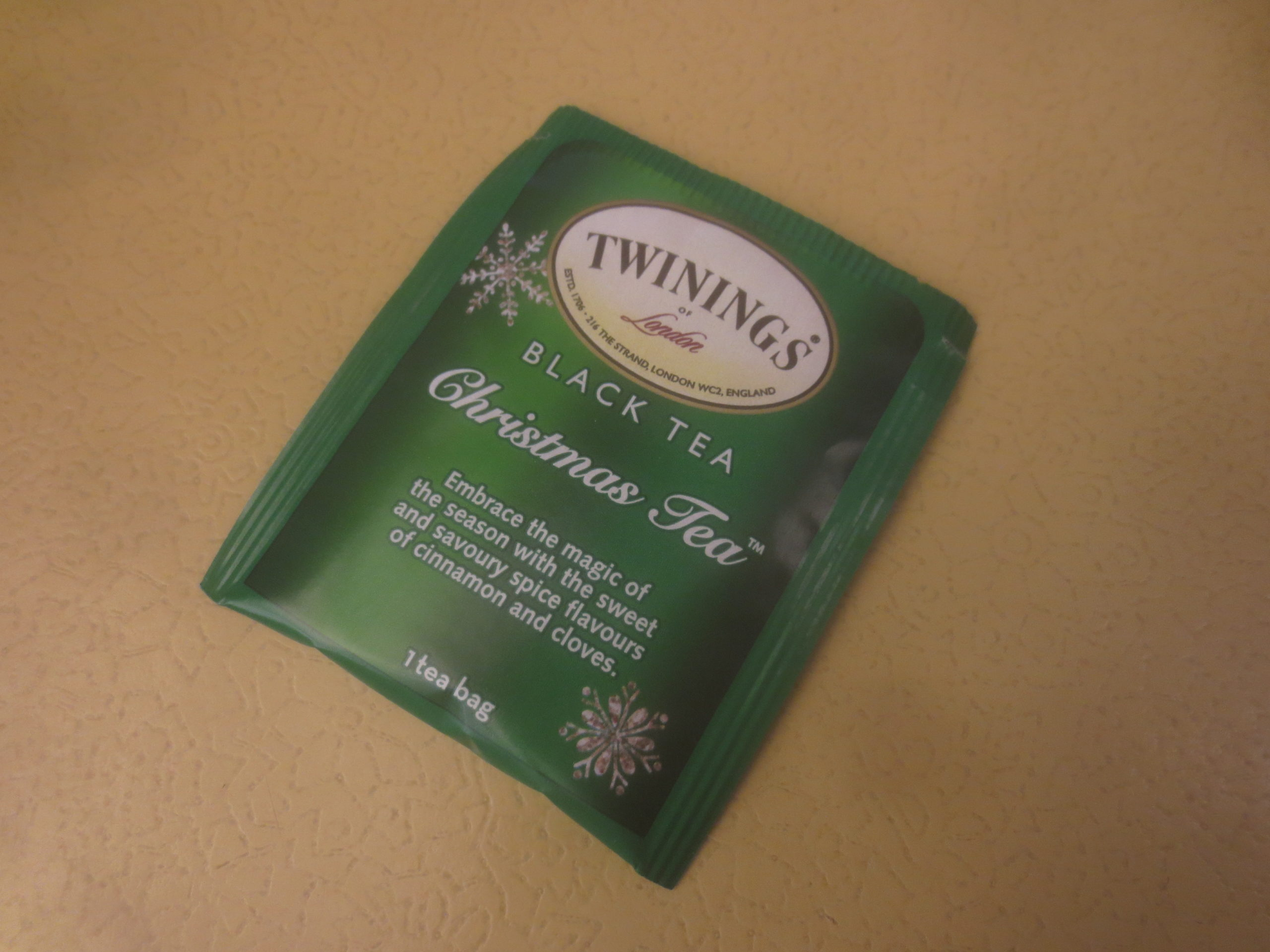 packet of Twinings Christmas tea