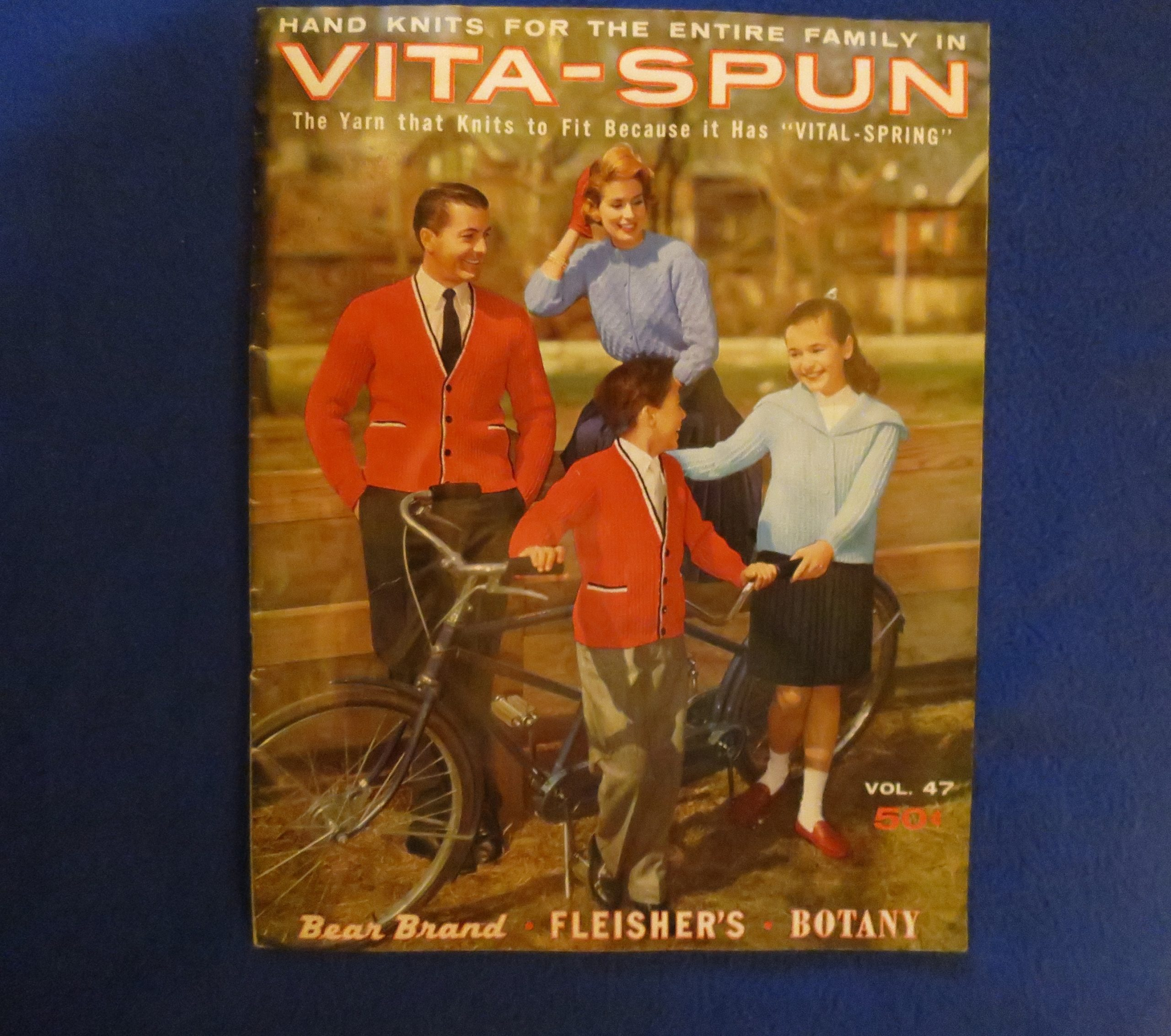 Knitting booklet for Vita-Spun yarn