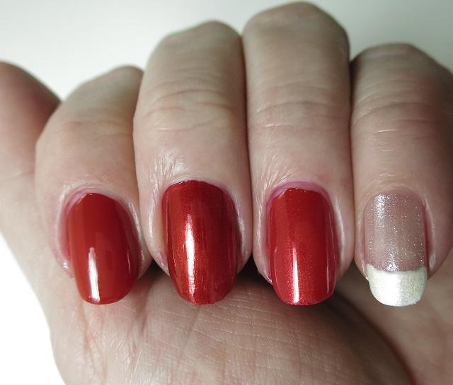 red and white nail polish