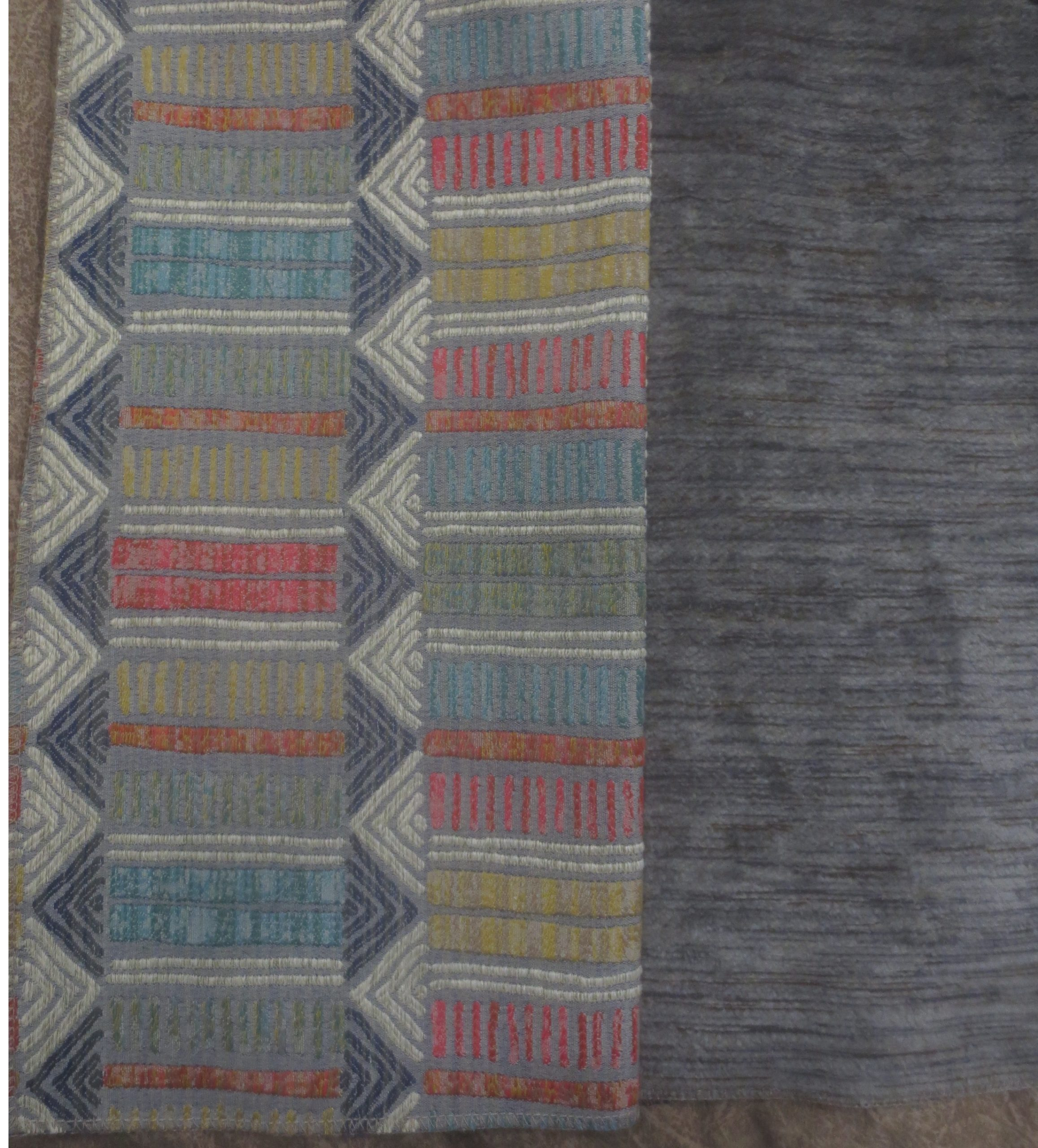 two upholstery fabrics